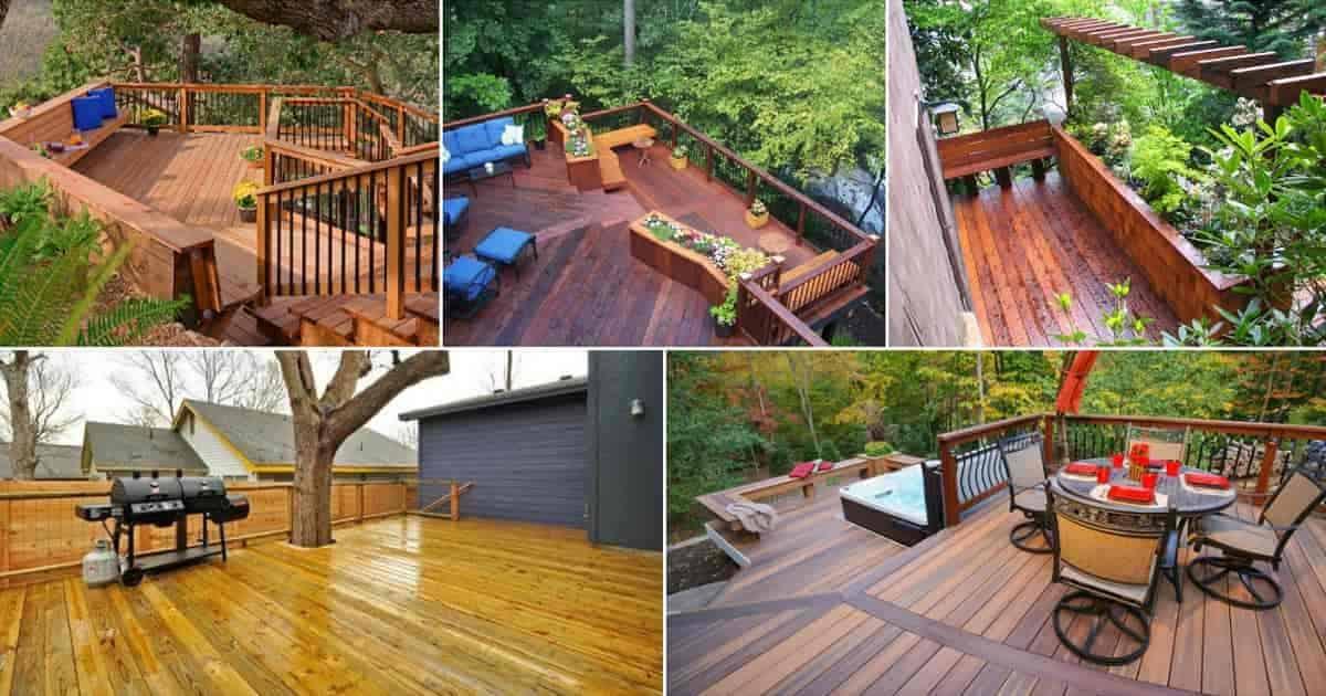 patio deck wood plastic flooring options