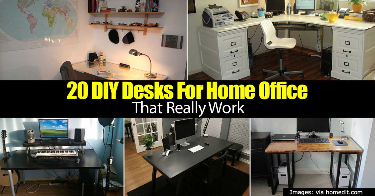 20 DIY Desks For Home Office That Really Work