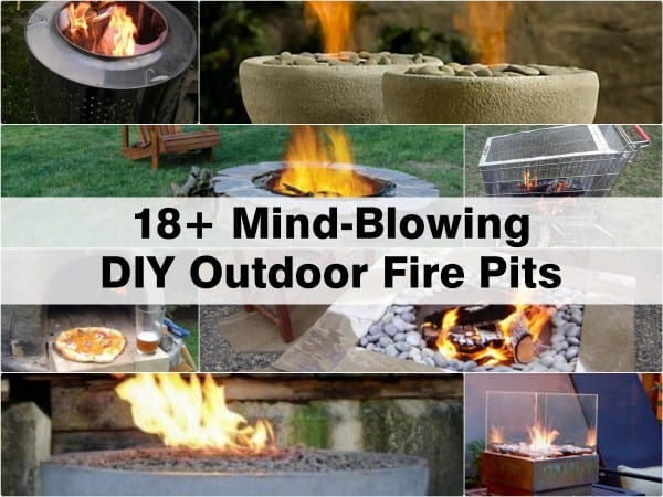 18+ DIY Outdoor Fire Pit Ideas