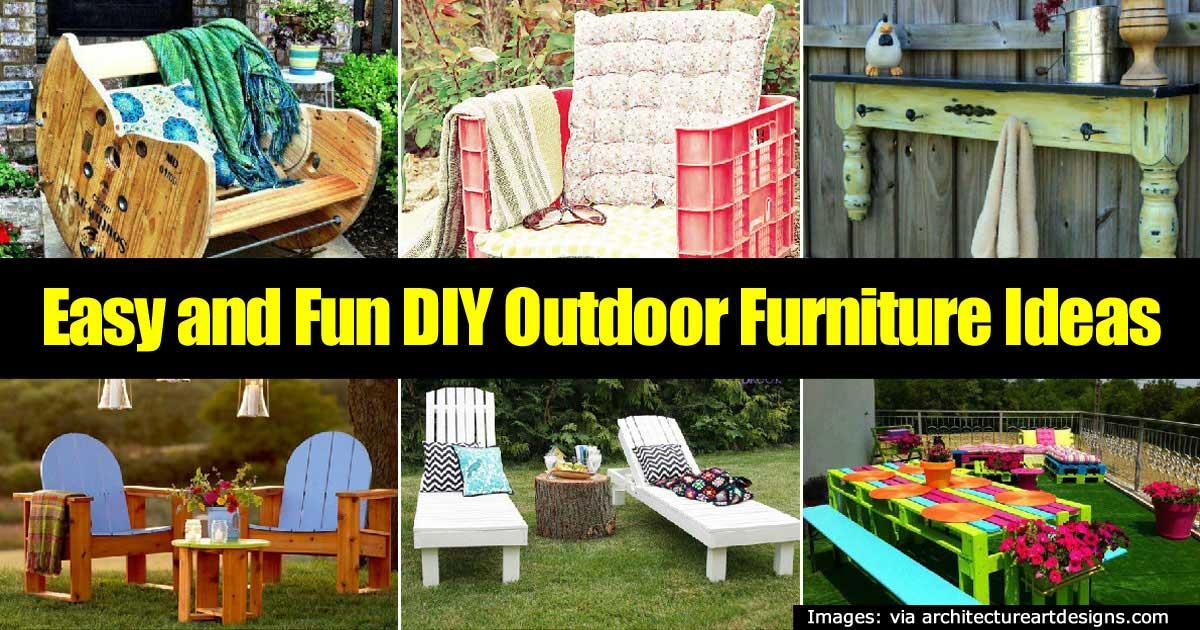 22 easy and fun diy ideas for outdoor furniture - Garden furniture ideas fun good taste ...