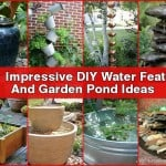 20+ Beautiful DIY Water Feature And Garden Pond Ideas