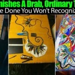 She Finishes A Drab Ordinary Table… Once Done You Won't Recognize It