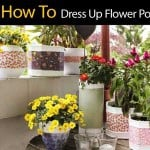 How To Dress Up Flower Pots DIY
