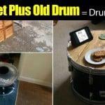 Old Pallet Plus Old Drum = Drum Kit Table