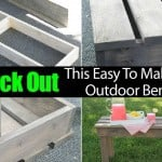 How To Make: A Simple, Easy DIY Outdoor Bench