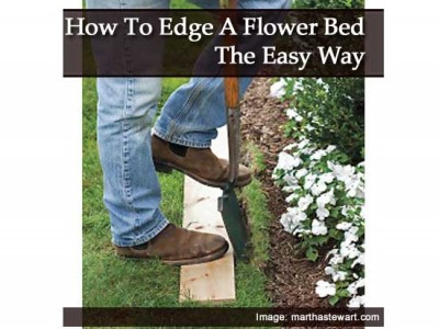 How To Edge A Flower Bed The Easy Way