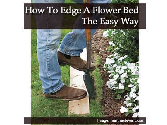 How to edge a flower bed the easy way for How to edge a flower bed