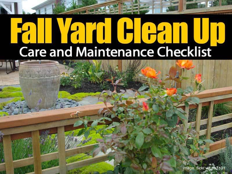Fall yard clean up care and maintenance checklist for Fall yard clean up checklist