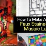 How To Make A Magical Faux Stained Glass Mosaic Luminary