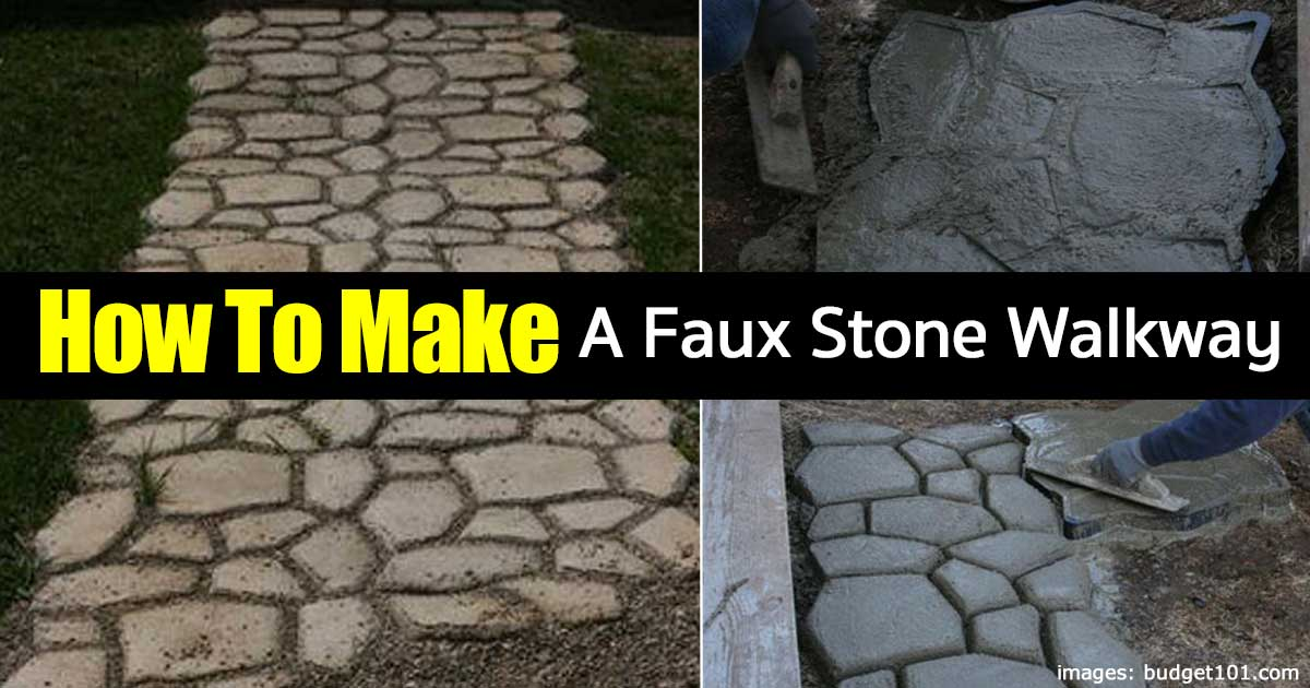 how to put in a stone walkway