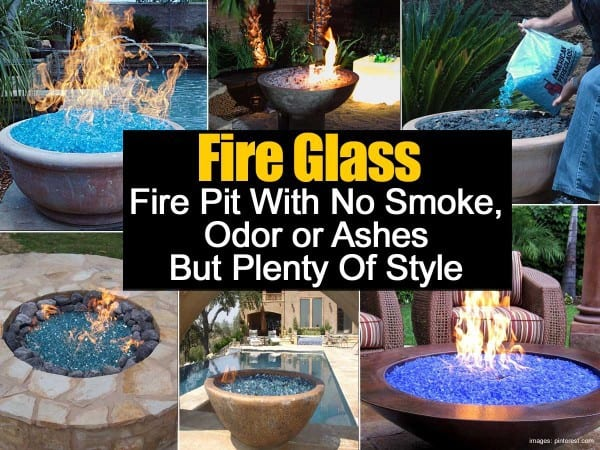 fire glass fire pit