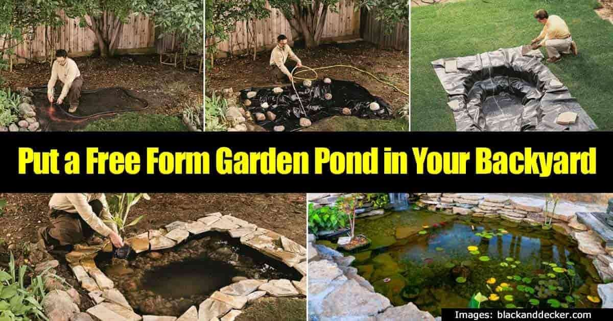 How to build a stone lined fit anywhere good looking for Make your own pond liner