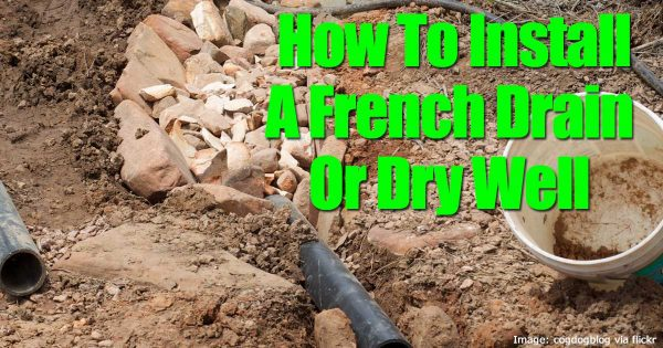 french well or dry well being installed