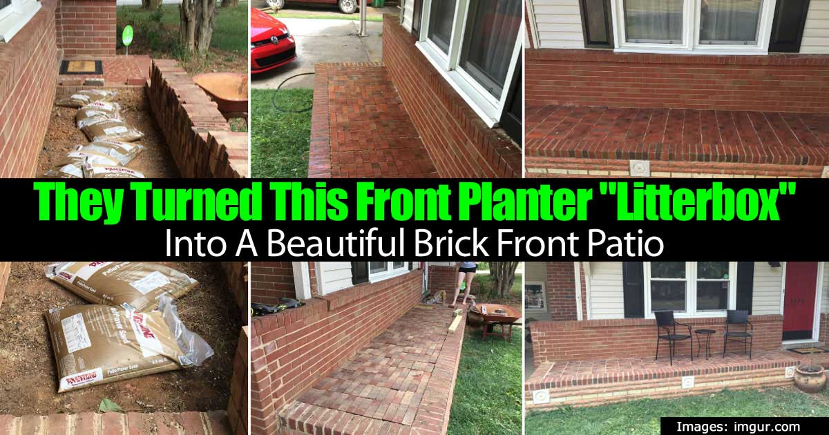 They Turned This Front Planter Litterbox Into A Beautiful Brick