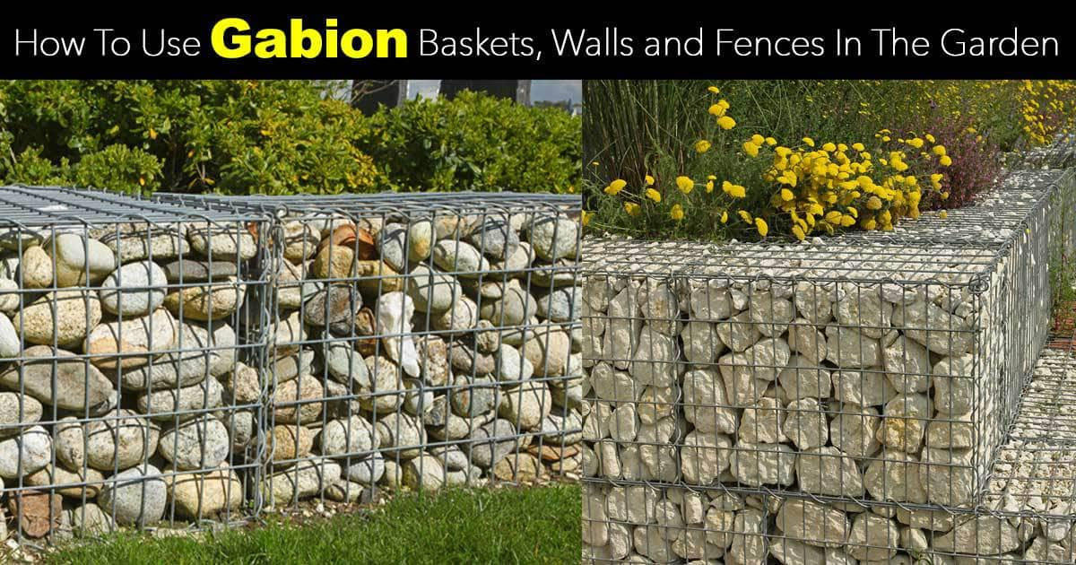Gabion wall baskets and fences how to use them in the garden solutioingenieria Gallery