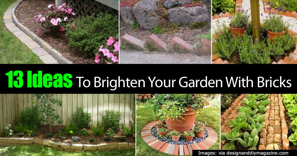 13 ideas to brighten your garden with bricks for Uses for old bricks
