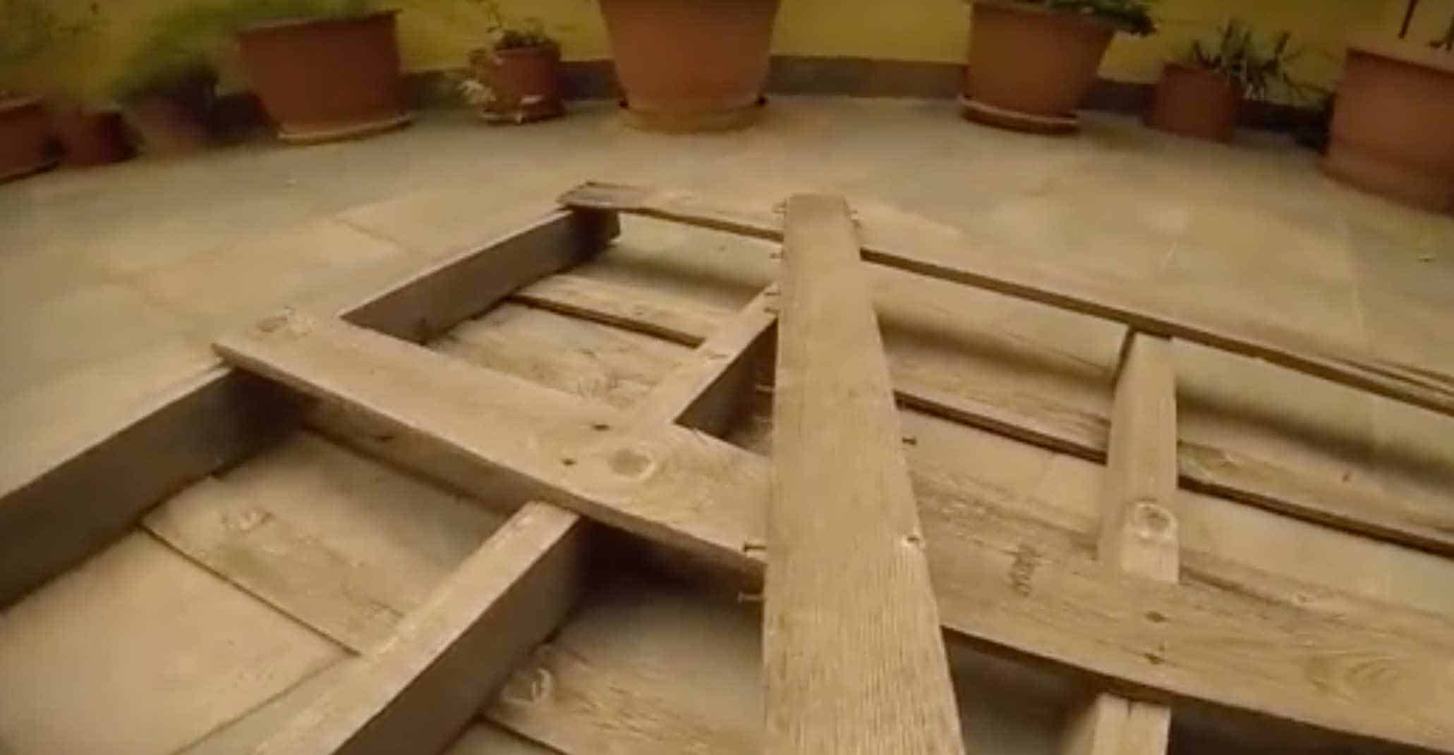 How To Make A Garden Hose Holder From A Pallet