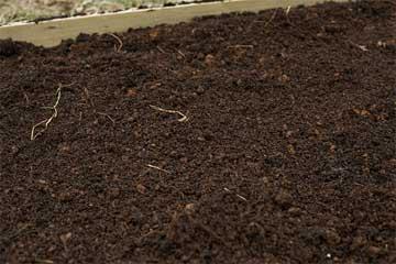 dark crumbly garden loam soil