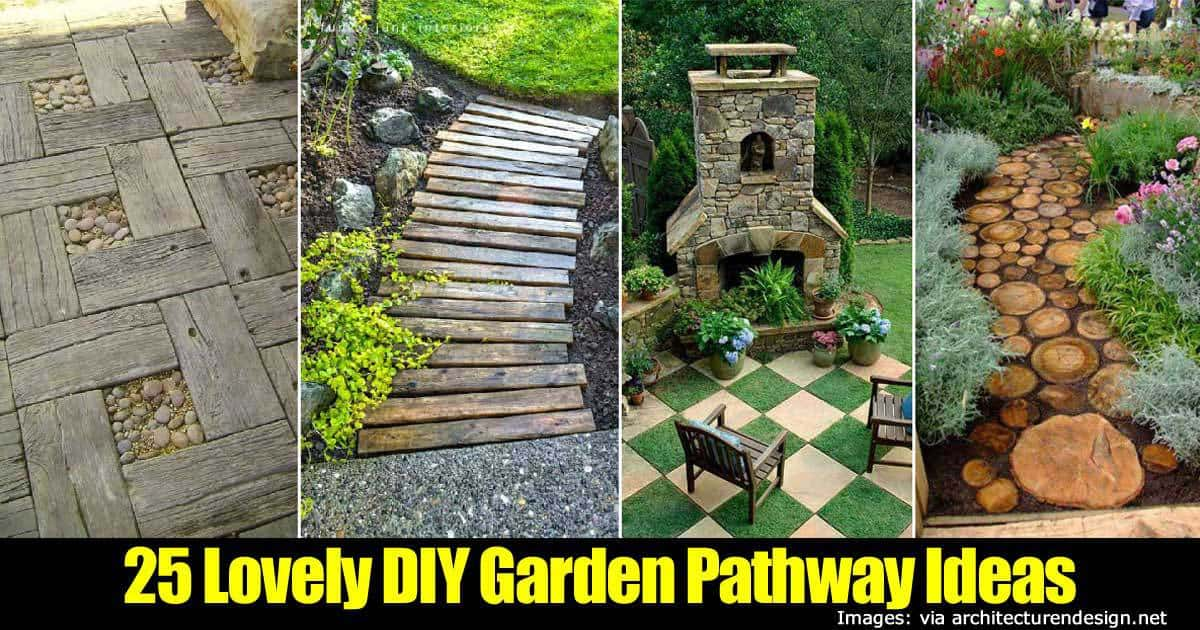 Garden pathway ideas how to make your landscape walkways unique Diy home design ideas pictures landscaping