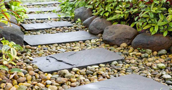 Pebbles And Stones For Gardens Garden stone how to choose the right stone for your garden garden stones assorted pathway 08312016 workwithnaturefo