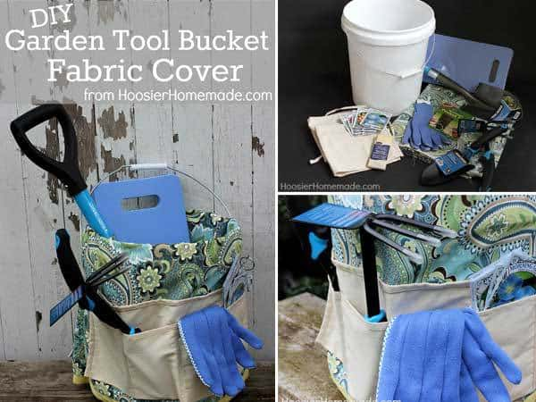 How To Make A Garden Tool Bucket Fabric Cover Project