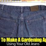 How To Make A Gardening Apron Using Your Old Jeans
