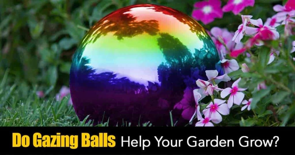gazing balls stand alone in the garden helping decorate and help the garden grow!