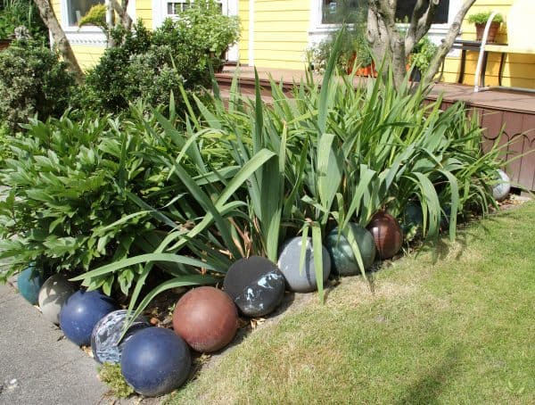 Collected Bowling Balls Used As An Edging