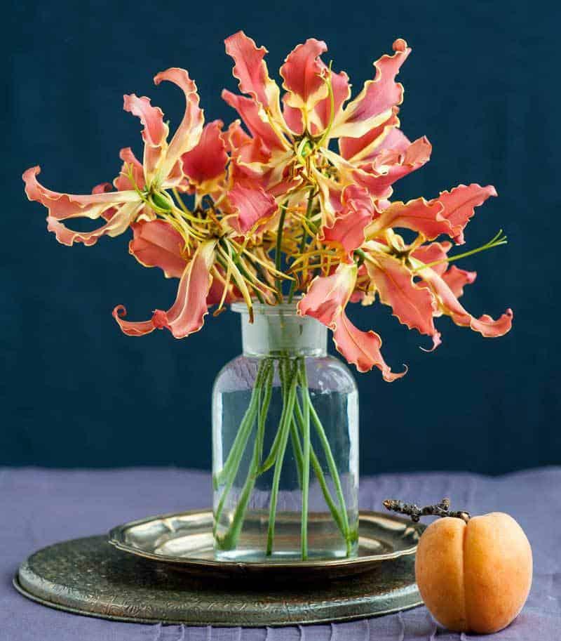 gloriosa flower arrangement