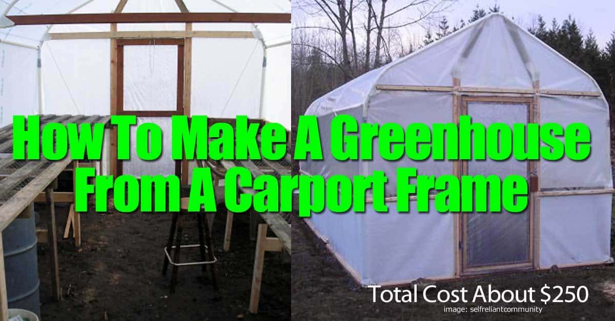 Carport Greenhouse Canopy : How to make a greenhouse from carport frame