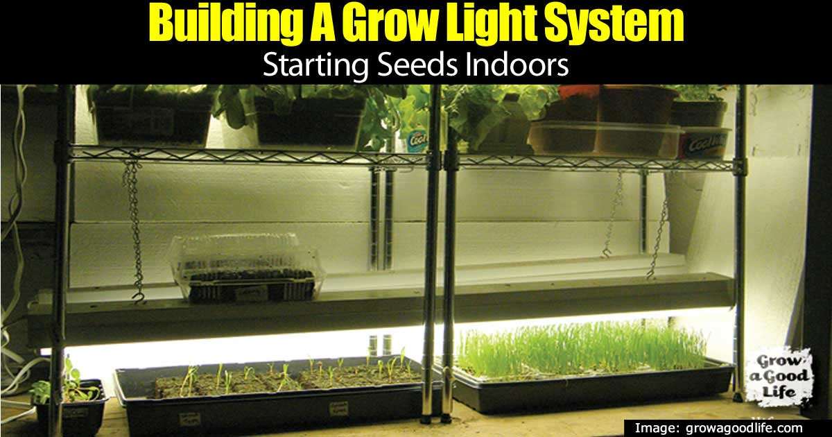 DIY indoor grow lights system