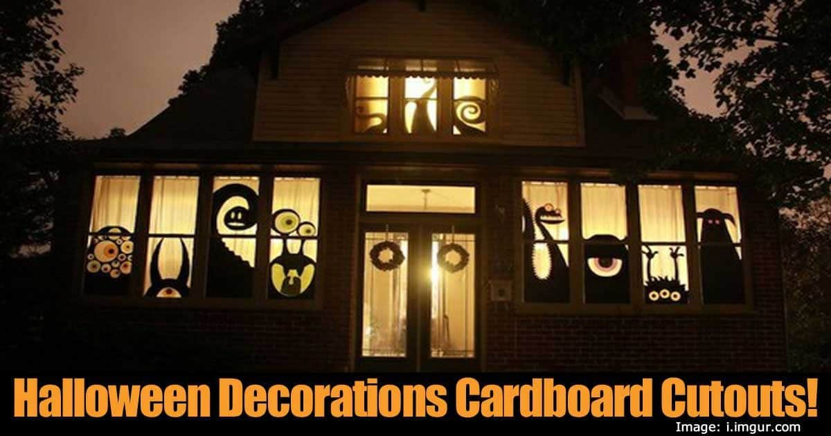 Halloween Decorations Cardboard Cutouts