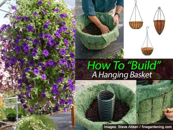 How To Make A Hanging Basket Flowers : How to build a hanging basket