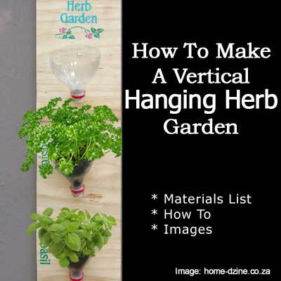 How To Make A Vertical Hanging Herb Garden. Hanging Herb 2 081513