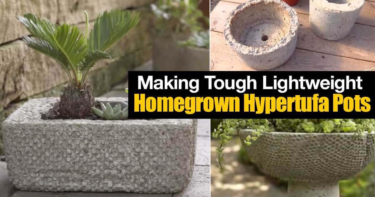 lightweight durable hypertufa pots