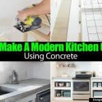 How To Make A Modern Kitchen Counter Using Concrete