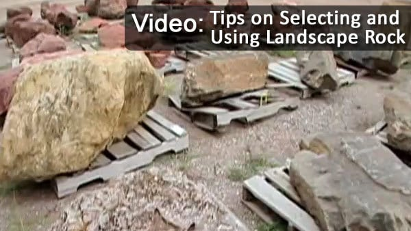Tips on how to select and use landscape rock video - Tips using rock landscaping ...