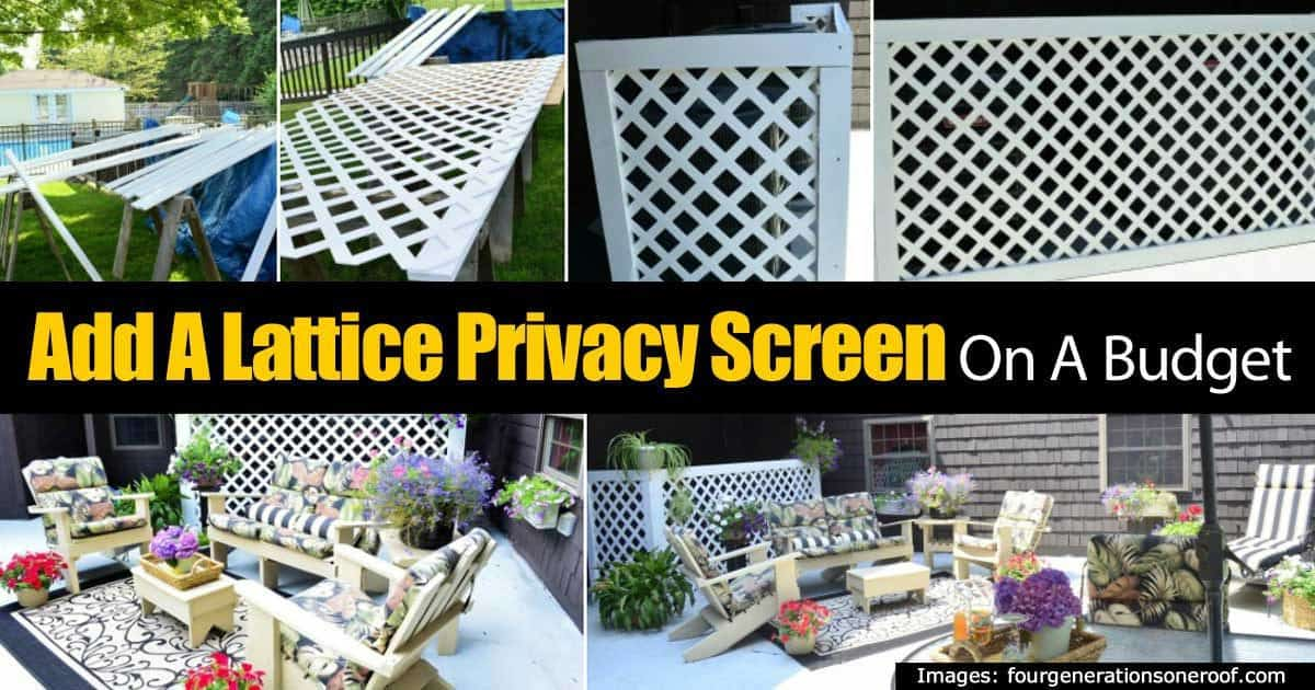 How to make a lattice privacy screen on a budget for Lattice panel privacy screen