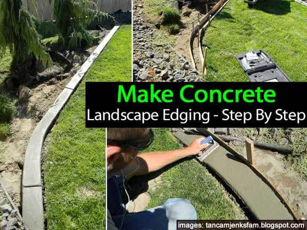 Pin Diy Concrete Landscaping And Garden Borders On Pinterest