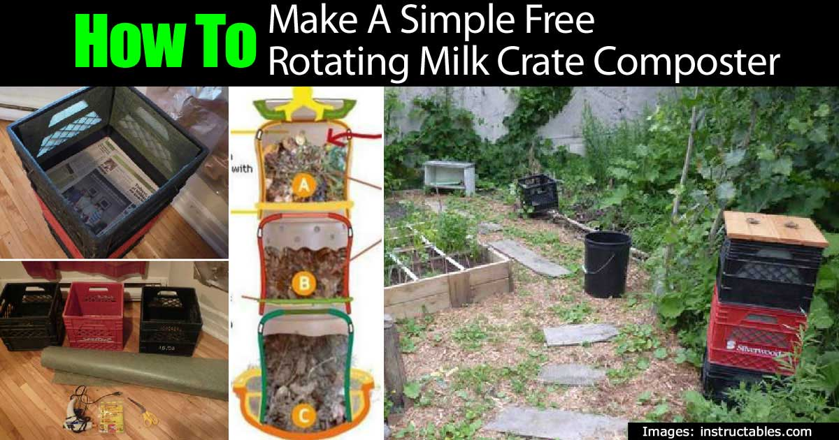 How To Make A Simple Free Rotating Milk Crate Composter