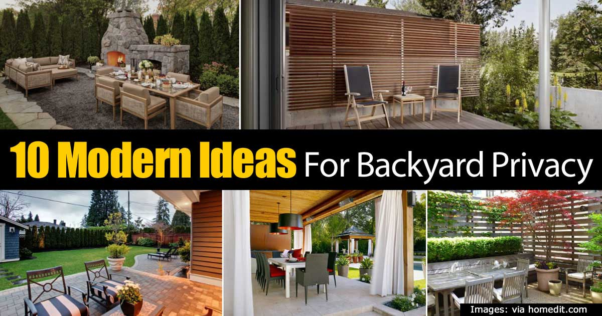 modern-privacy-93020151820 - 10 Modern Ideas For Backyard Privacy -
