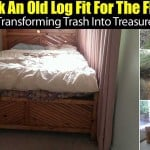 He Took An Old Log Fit For the Fire Pit… Transforming Trash Into Treasure
