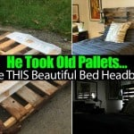He Took Old Pallets… Made THIS Beautiful Bed Headboard