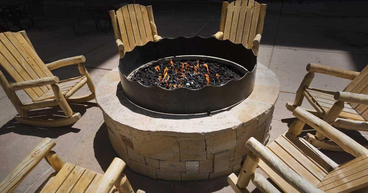 outdoor fire pit backyard