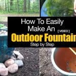 How To Easily Make An Outdoor Fountain