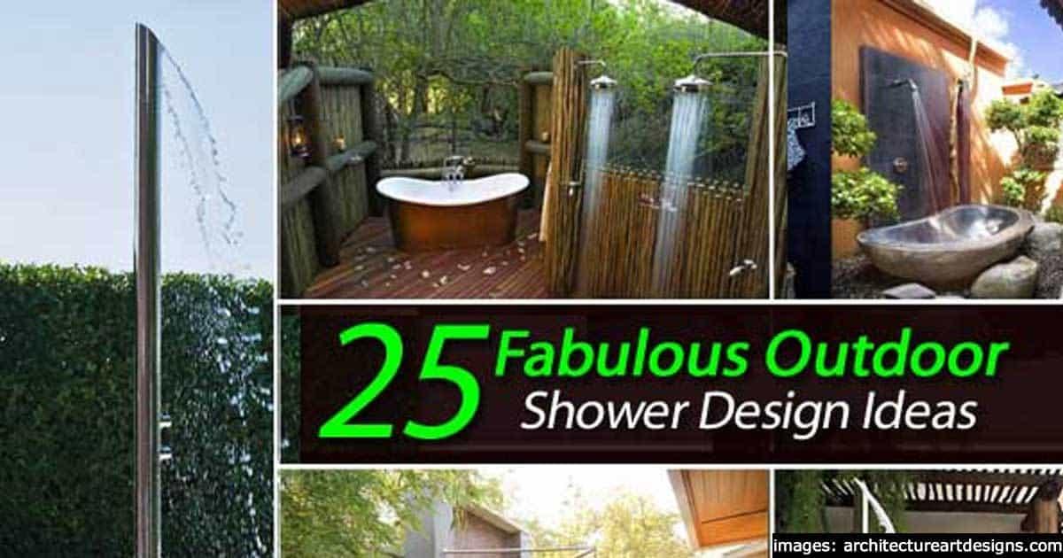 25 Fabulous Outdoor Shower Design Ideas -