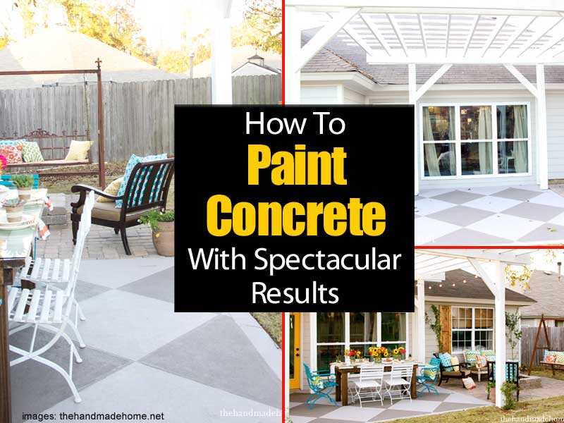 Painting A Concrete Patio With Spectacular Results