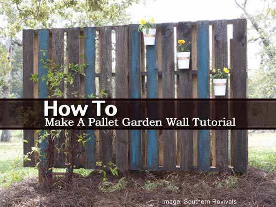 how to make a pallet garden wall tutorial. Black Bedroom Furniture Sets. Home Design Ideas