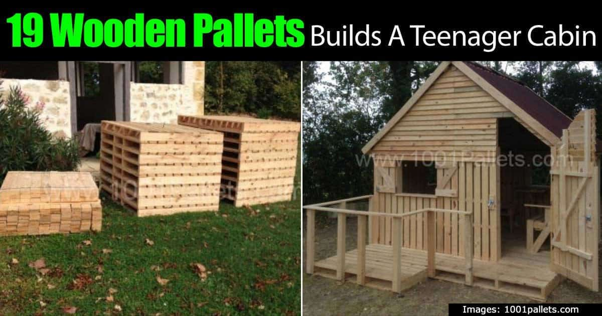 19 Wooden Pallets Builds A Teenager Cabin