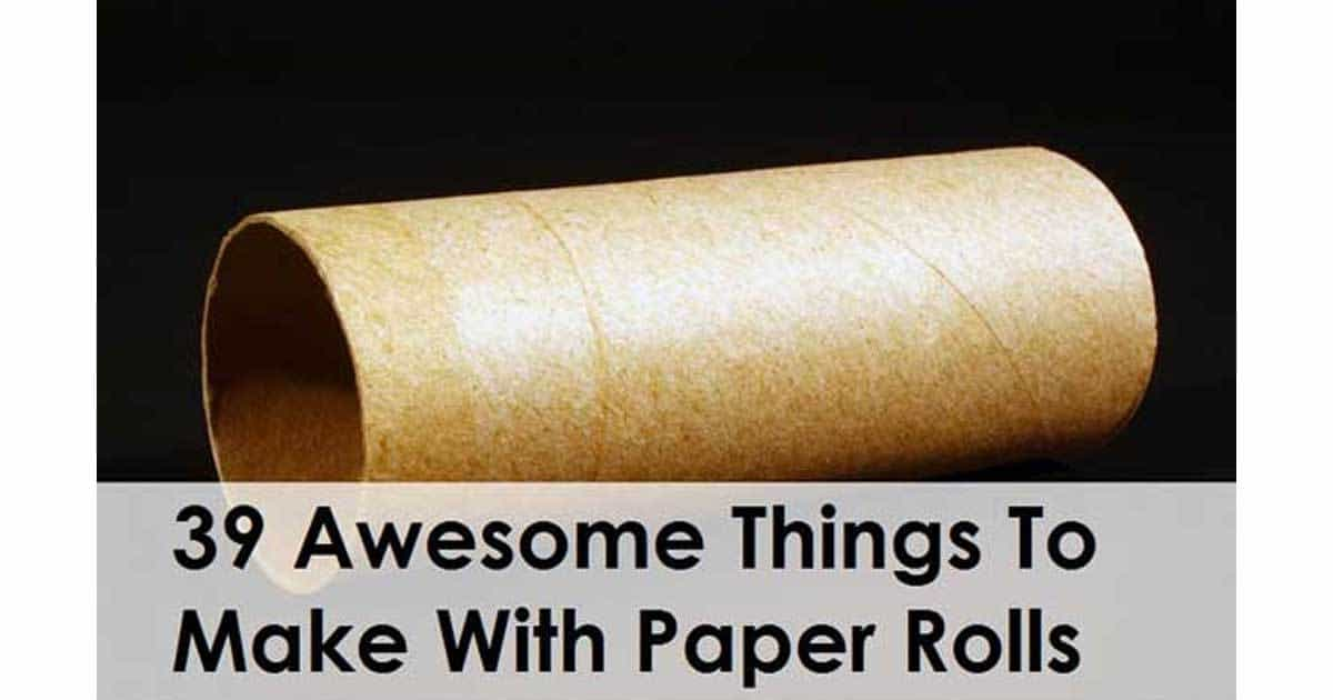 39 awesome things made using paper rolls for Things made by waste paper